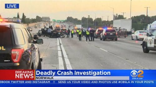 Fatal Motorcycle Accident in Norwalk Shuts Down the Freeway for Several Hours