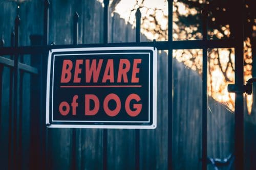 How a Beware of Dog Sign Can Affect a Personal Injury Case in California